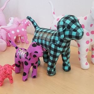 Giant Victoria's Secret VS PINK Plaid Display Dog
